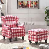 European rustic style comfortable fabric sofa chair for bedroom living room LQ-805#