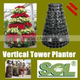 Strawberry vertical gardening tower pots Vertical tower garden flowers vertical hydroponic tower