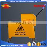 20L mop bucket with wringer side press plastic
