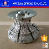 80mm Vacuum Brazed Diamond Router Bit for Cutting Granite Limestone
