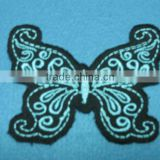 beautiful embroidery patch, high quality embroidery patch ,iron on butterfly badge