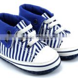High Quality Hot Sales blue baby canvas shoes for boy