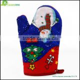 Christmas style professional customized cooking industrial oven gloves cotton industrial oven mitt