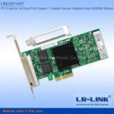 LR-LINK PCI Express x4 Quad Port Copper Gigabit For Server Adapter Lan Card (Intel I350 Based)