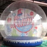Factory Price Inflatable Christmas Snow Globe , PVC Tarpaulin Inflatable Christmas Ball For Outdoor
