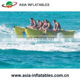 6 Passenger/Seat Banana Boat Inflatable Raft/ Inflatable banana boat dual tubes in blue color for water park/lake/sea side
