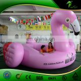 Pink Flamingo Inflatable Pool / Water Games Playing Rest Flamingo Type Ride Pool