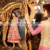 New Bollywood Indian Party Wear Anarkali Long Pakistani Salwar Kameez Fancy Salwar Kameez Heavy Bridal Suit R1254