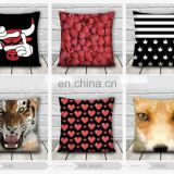 new fashion high quality 3d print tiger flag bull strawberry fullprint decorative pillow cover