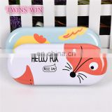 China Manufacturer Supplier Fashion Style custom design cute animal style metal glasses case box for girls