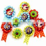 customized various anime decorative beatiful ribbon rosettes with a butterfly needle(Disney audit factory)