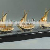 24K Gold Plated Ship Model From Vietnam Handcrafted Model Ship Kits Pop For Office Decoration