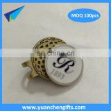Golf club ballmarker magnetic golf ball marker and hat clip with logo