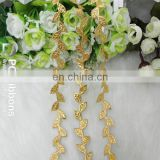 Decoration gold satin leaf ribbon