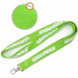 Promotional custom thick unique logo cotton lanyard with metal hook