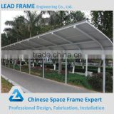 Steel roof structure car parking canopy