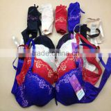 1.05USD High Quality Large Size Ladies Bra Sets With Beautiful Lace Prints, 36-40 C Cup(kctz007)