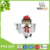 High quality cheap 3D vivid bird soft pvc fridge magnet