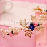 Hair accessories hair jewelry rhinestone wedding flowers gold plated jewelry wholesale crowns