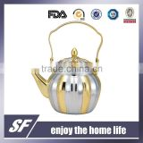 1.1 L Top Handle Chromium plating and gold plating Stainless Steel Tea Kettle/Tea Pot(SW-7803SG)