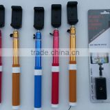 Factory Flexible Wrieless Bluetooth Aluminum Monopods ,Wireless Selfie Camera Stick Monopod