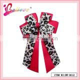 Nice girls' favorite animal pattern novelty ribbon bowknot red bow hair clip (DW-0012)