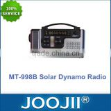 Portable Solar Power Hand Crank MW/FM/SW/WB Dynamo Radio+ LED Flashlight+Phone Charger
