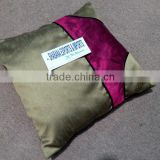 pillow cushion cover patch work in satin