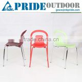 Metal Corners Plastic Stacking Chairs Dining Barbecue Stall Cheap Pp Plastic Bar Chair                                                                         Quality Choice