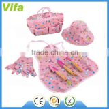 kids cartoon garden tools set with apron for girls                                                                         Quality Choice