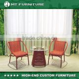 red bistro set rattan patio furniture