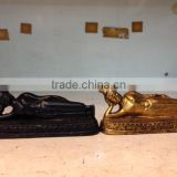 Thailand sleep buddha resin figures in Black and Gold