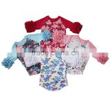 Best selling baby raglan shirt pretty design icing ruffle sleeve baseball tee for kids                                                                         Quality Choice