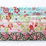 Hot-selling 5/8 Width Floral Fold Over Elastic,Printed FOE Elastic For Babygirl Hair Tie