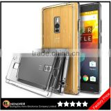 Keno All New Dust Free Cap Crystal Clear Shock Absorption TPU Bumper Drop Protective Hard Back Case for OnePlus Two