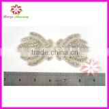 Rhinestone Applique For Wedding Dress, neckline rhinestone applique, crystal appliques for dresses