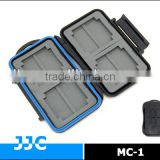 JJC MC-1 Rugged Waterproof Memory Card Plastic Case (4x Compactflash CF cards /8x MemoryStick Pro Duo)