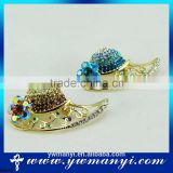 Factory price buy wholesale direct from china easy sell items hats crochet brooch for wedding invitations B0045