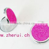 fashion various design bling rhinestone design your own compact mirror