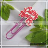 Wholesale 2014 Top Popular Giveaway Soft PVC Personalized Bookmarks For Wedding Souvenir