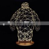 Bedroom bedside lamp creative 3D stereoscopic LED Gift Light Alice