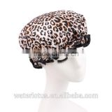 fashion leopard print men or lady shower cap                                                                         Quality Choice