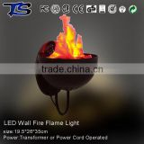 High quality LED Wall silk fire flame light with orange LED light with CE and ROHS for indoor use
