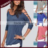 TOP selling strapless casual ladies cotton tops/