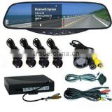 Car Wireless Rrearview mirror bluetooth handsfree kit with Parking Sensor System