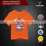 China supplier summer custom bright cotton for child t-shirt