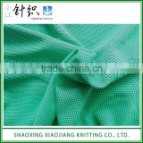 Green 100% Polyester Knitted Bird Eye Mesh Fabric
