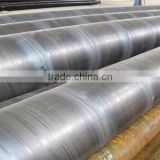 Spiral submerged arc-welded steel pipe for pipelines for low pressure field fluid service