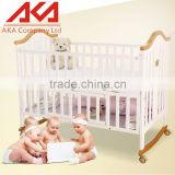 Eco-friendly Wood Multifunction Wooden Baby Cribs Pine Wood Baby Bed