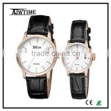 fashion couple wrist watch simple sapphire watch with great dial strap male leather watches men vintage watches